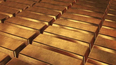 Stacked bars of gold bullion Animation