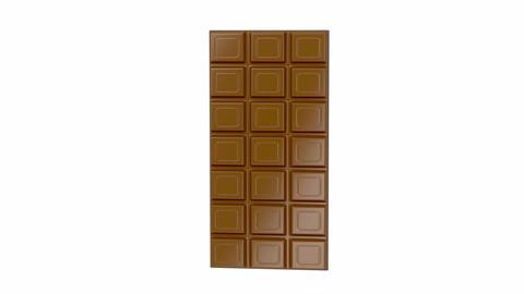 Chocolate bars on white background Animation