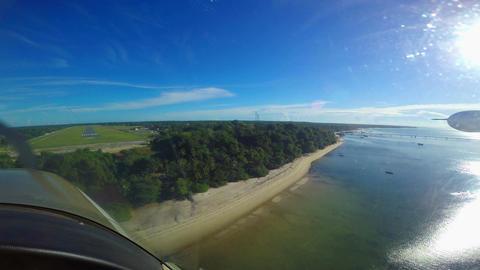 Landing a single-engine aircraft to Mafia island Footage