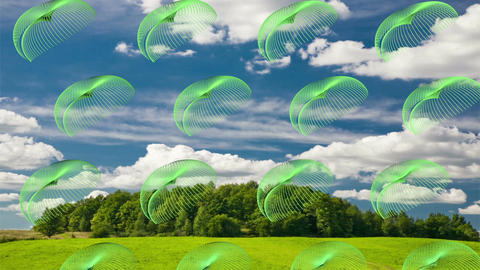 The Beautiful flight unidentified essence.UFO Animation