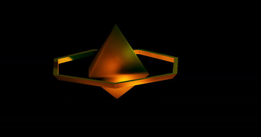 Low Poly Saturn rising and falling with alpha matte Animation