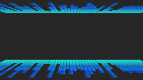 Blue Dancing Audio Music Bars with room for title CG動画
