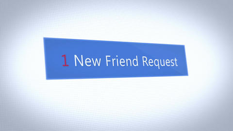 A fictional social media pop up notification of a friend request Animation