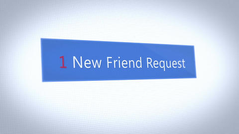 A fictional social media pop up notification of a friend…, Stock Animation
