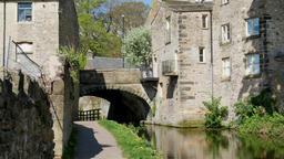 Skipton canal bridge Footage