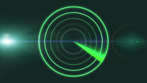 Modern futuristic digital radar Animation