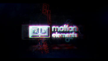 Glitch Neon Logo 2 After Effectsテンプレート