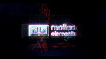 Glitch Neon Logo 2 Plantilla de After Effects