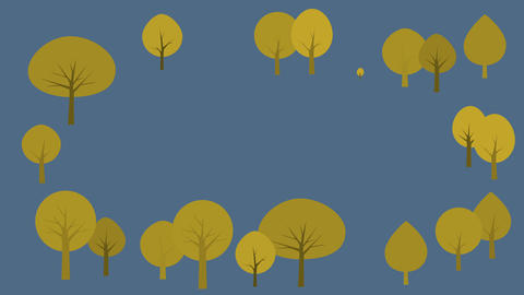 Nature background with trees growing Animación