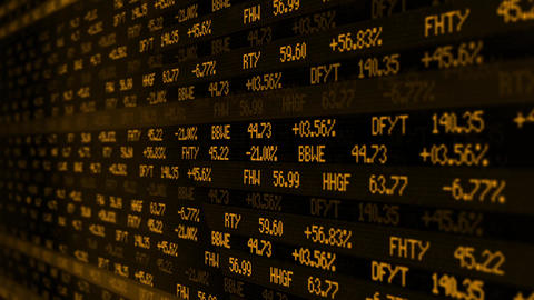Stock Exchange numbers scrolling through a digital... Stock Video Footage
