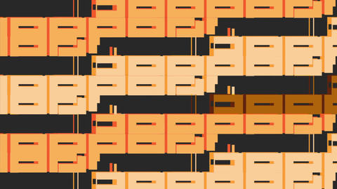 Orange loopable cubism motion background Animation