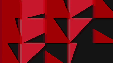 Abstract flipping red triangular background Animation