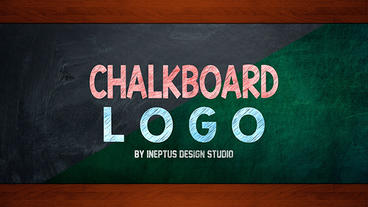 Chalkboard logo Apple Motion Template