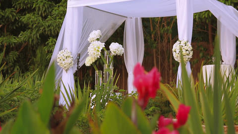 Jewish traditions wedding ceremony. Wedding canopy (chuppah or huppah) Live Action