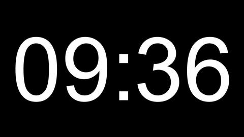 digital clock full 24h time-lapse Animation