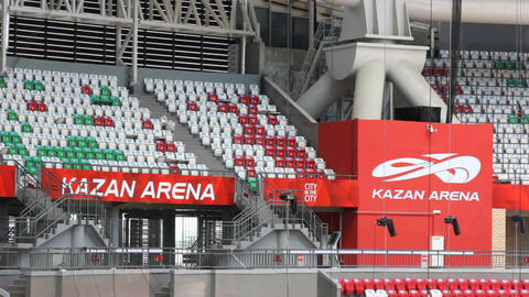 View of Empty Modern Spectators Stands Waiting for Sports Fans Footage