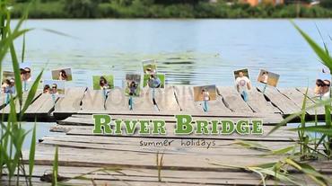 River Bridge Photo Gallery Plantilla de After Effects