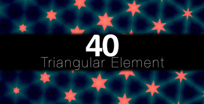 Triangular Elements 40 Pack After Effects Templates