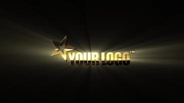GOLD LOGO - 3D - RAYS After Effects Template