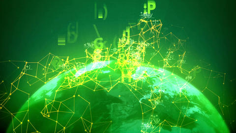 Global network background Animation
