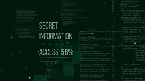 Secret Information Access. Seamless loop, Stock Animation