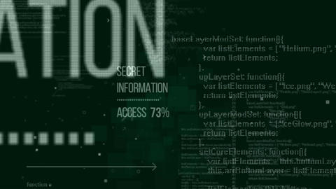 Secret Information Access. Seamless loop Animation