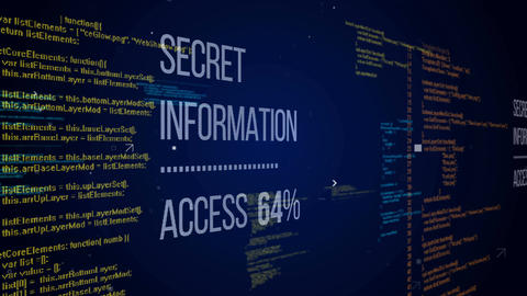 Secret Information Access with some data code Animation