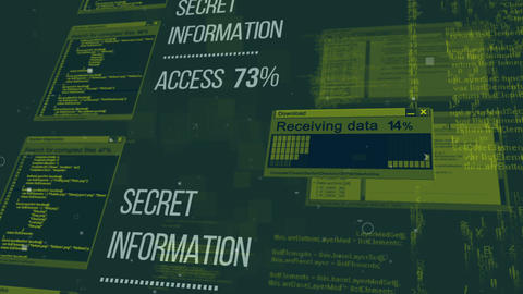 Hacking the Secret information database Animation