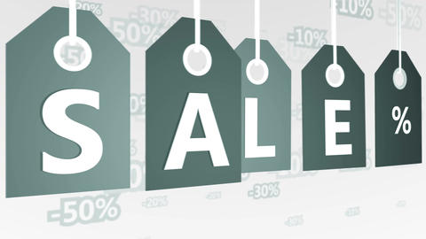 Sale special offer sticker gray Animation