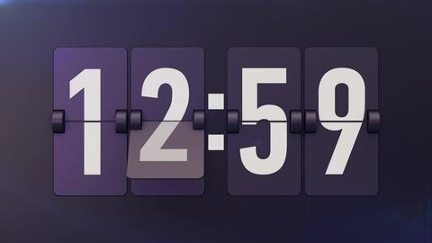Animation of Analog flip clocks retro designs Animation