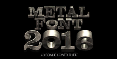 Metal Font 2016 After Effects Template