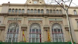 Spain Barcelona 029 Liceu Opera in La Rambla Footage