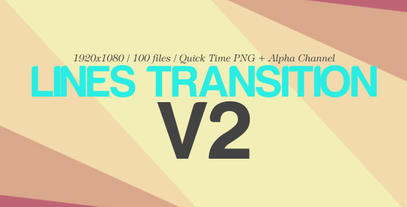 The Lines Transition V2 (100 Pack) After Effects Templates