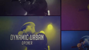 Short Glitch Urban Opener After Effects Templates