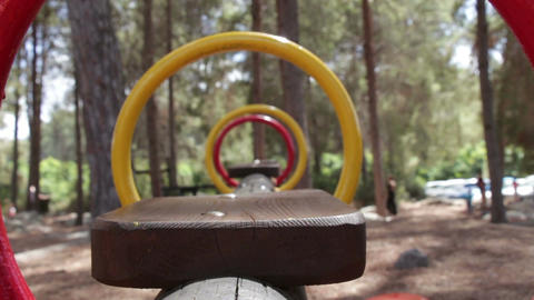 Close-Up of swing swinging