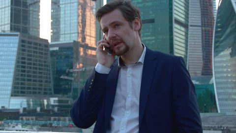 Man Talking On The Phone Footage