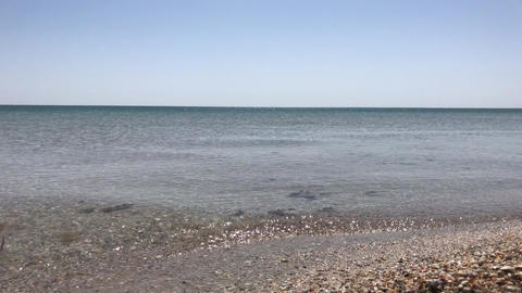 view of the sea surface, a spring clear day Footage