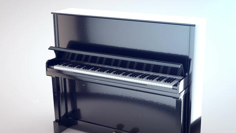 3D rendering of piano. Classic Jazz Music concept Animation