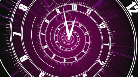 Infinity Time Spiral. Business time concept Animation