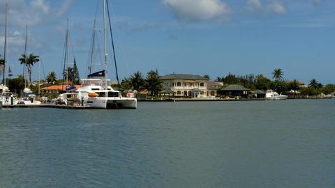 Rodney Bay port at Saint Lucia,Antilles Footage