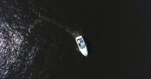 Luxurious Powerboat Cruising Through Waters Footage