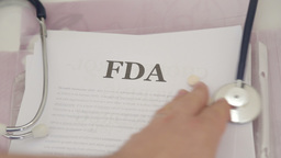 Reading FDA approved drugs documents Footage