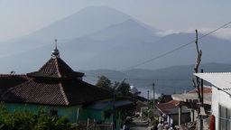 Village and mountains,Bandungan,Indonesia Footage