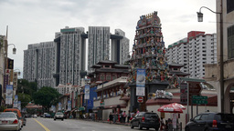 Indian Temple in Little India,Singapore Footage