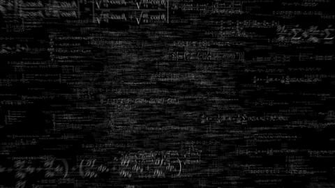 Formula formulae fly through math science data financial teacher tech 4k Footage