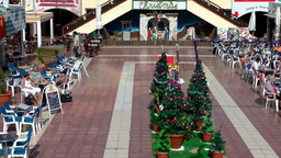 Spain Gran Canary Playa del Inglés 023 Christmas decoration in shopping center Footage