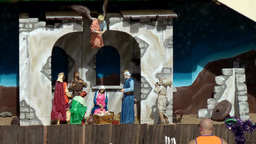 Spain Gran Canary Playa del Inglés 022 nativity play Christmas decoration Footage