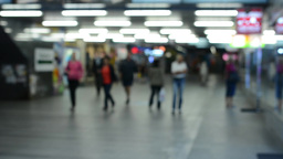 commuter people - people in the subway - blurred shot Footage