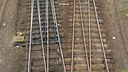 railway line - shot from above Footage