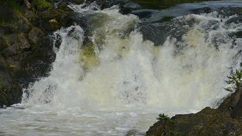 waterfall rocks, slow motion, Live Action
